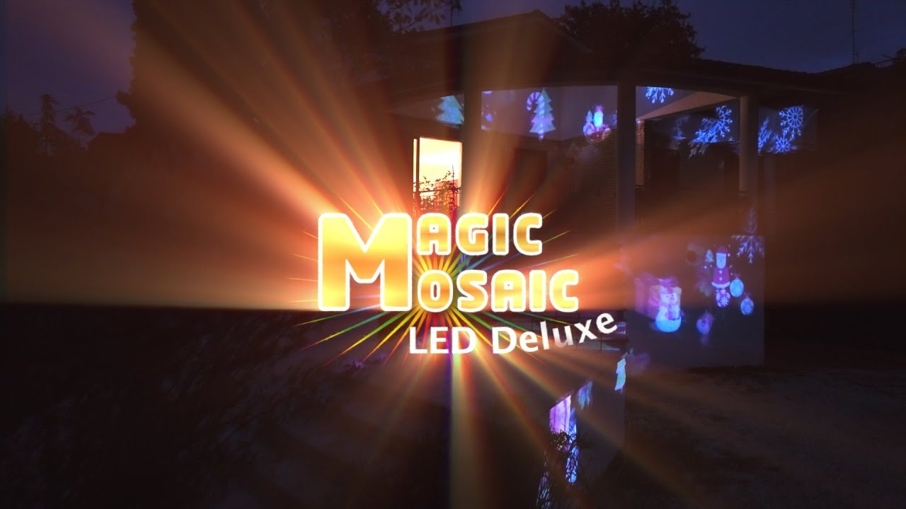 Proiettore Luci Natalizie Mediashopping.Magic Mosaic Led Deluxe Proiettore Di Immagini A Led Da Esterno