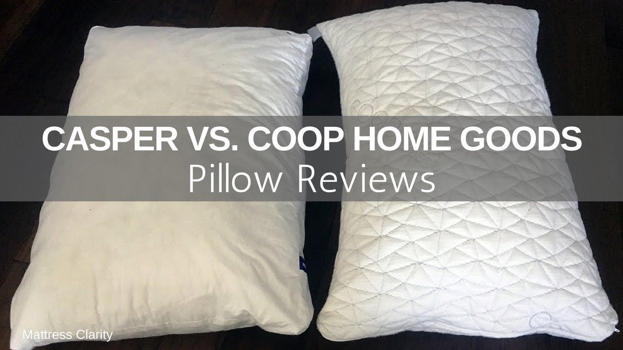 pillow reviews casper pillow vs coop home goods