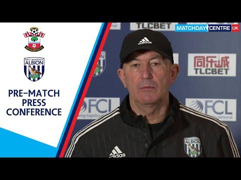 Southampton vs West Bromwich Albion : Tony Pulis Press Conference