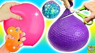 Cutting Open MASSIVE Squishy Squoosh-O's Ball! DIY Stress Ball Kits! Doctor Squish
