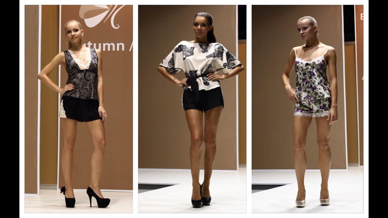 Модная женская домашняя одежда из шелка.  Показ мод осень 2014 Lingerie ♥ Trendy clothes for home