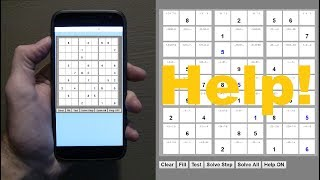 Sudoku Helper and Solver on smartphone, tablet or PC ★ Free online games ★ Sudoku oplossen