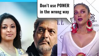 Aditi Rao Hydari Strong Reaction On Tanushree Dutta Nana Patekar Controversy