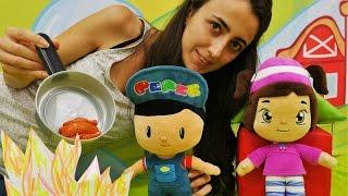 Türkçe izle- çizgi filmi oyuncaklarıyla çocuk oyunları/videoları. Pepe ve Leli piknikte.Kız oyunları