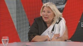 Elisa Carrió habló de todo en A DOS VOCES
