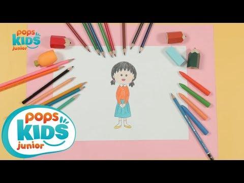 Cách Vẽ Bạn Chị Gái Maruko (Saikiko) Hoạt Hình Cô Bé Maruko   Siêu Nhân Bút Chì Hướng Dẫn Vẽ Tập 2