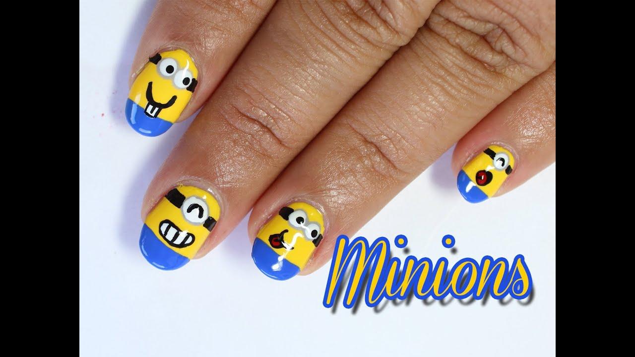 Despicable me minion nails - YouTube