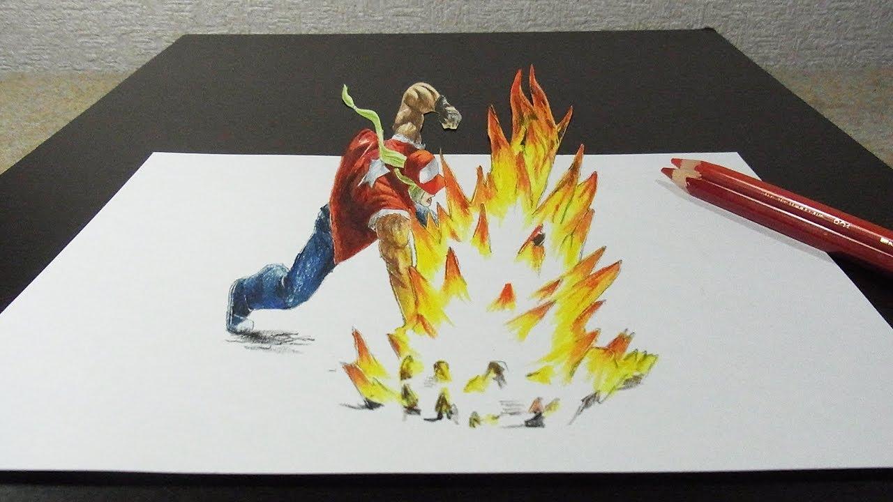 テリーボガードを3dで描いてみた スマブラsp 大乱闘スマッシュブラザーズ Special Youtube