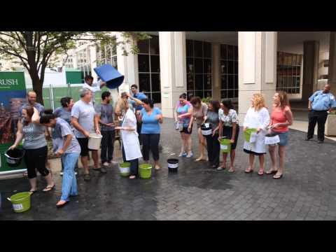Ice Bucket Challenge at Rush University Medical Center, Aug. 25, 2014