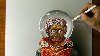 Drawing of the Martian Leader from Mars Attacks