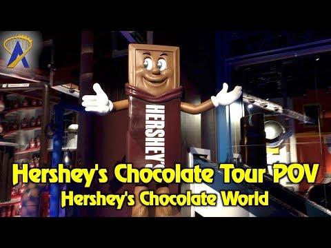Hershey's Chocolate Tour POV at Hershey's Chocolate World in Pennsylvania