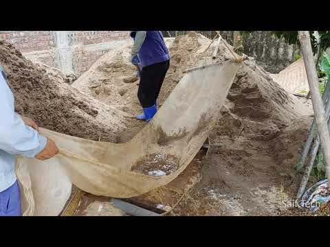 Clean Sand Before Use in Construction by Rudimentary But Very Effective Method