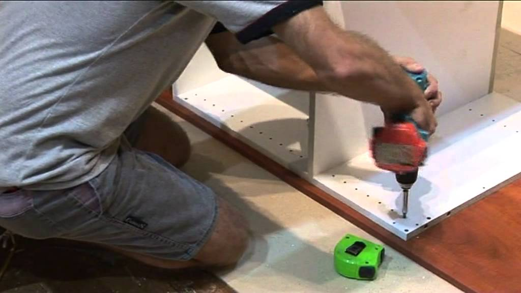 Installing a wall oven cabinet from kitezi.com.au - YouTube