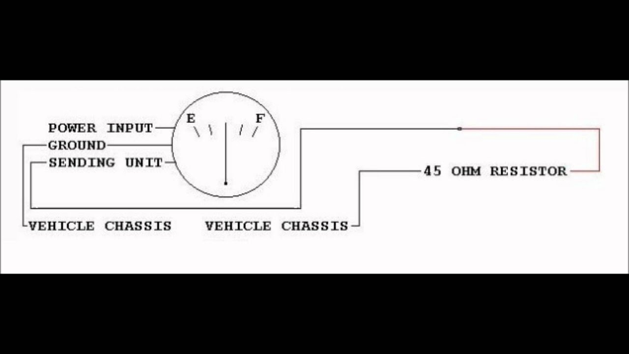Chevrolet Fuel Gauge Wiring Reveolution Of Diagram 2003 Impala Operation With Resistors Replacing The Sending Rh Youtube Com Boat