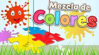 Mezcla de COLORES en Español para niños