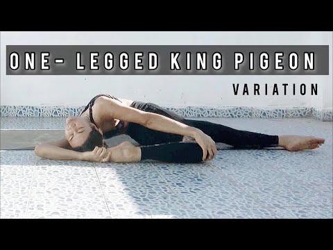ฝึกโยคะด้วยตนเอง : ONE-LEGGED KINGPIGEON POSE VARIATION l  YogaArromMAN