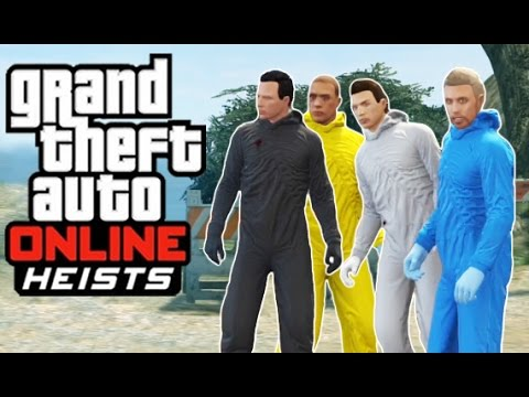 GTA 5 Online - Series A Funding Heist! (Nuke Power Rangers, Rebel Turret, Trevor)