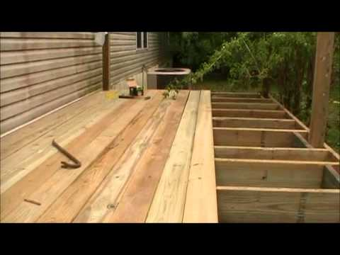 Laying The Decking On The Porch Youtube