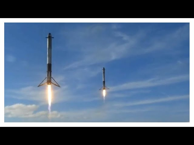 SpaceX: Falcon Heavy – Full Launch (T-45 seconds till end)