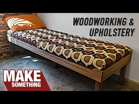 DIY Office Lounge | Woodworking & Upholstery Project