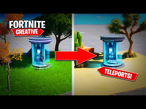 *NEW* Teleports In Fortnite! (Tutorial)