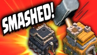 Clash of Clans - TH7 v TH9 In CLAN WARS!!!