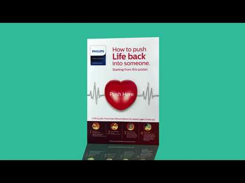 The Philips Vertical CPR Poster