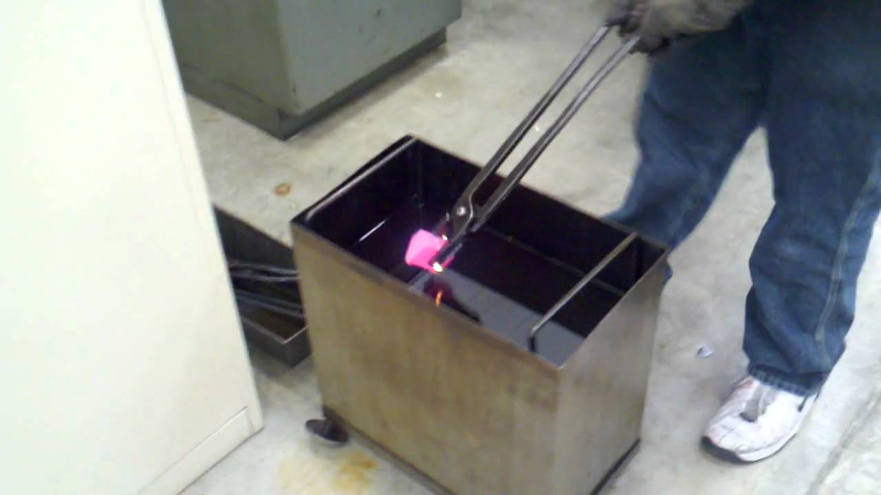 Oil Quench Heat Treating 4140 Youtube
