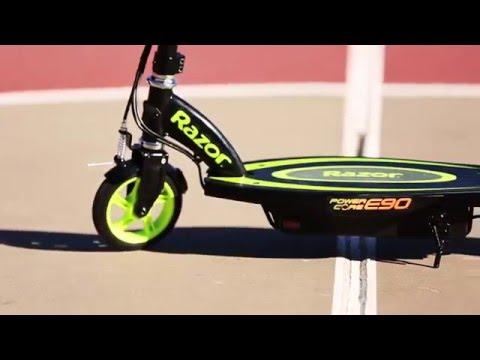 Электросамокат для детей от 5 лет Razor Power Core E90. Новые технологии, лёгкий вес, мотор-колесо
