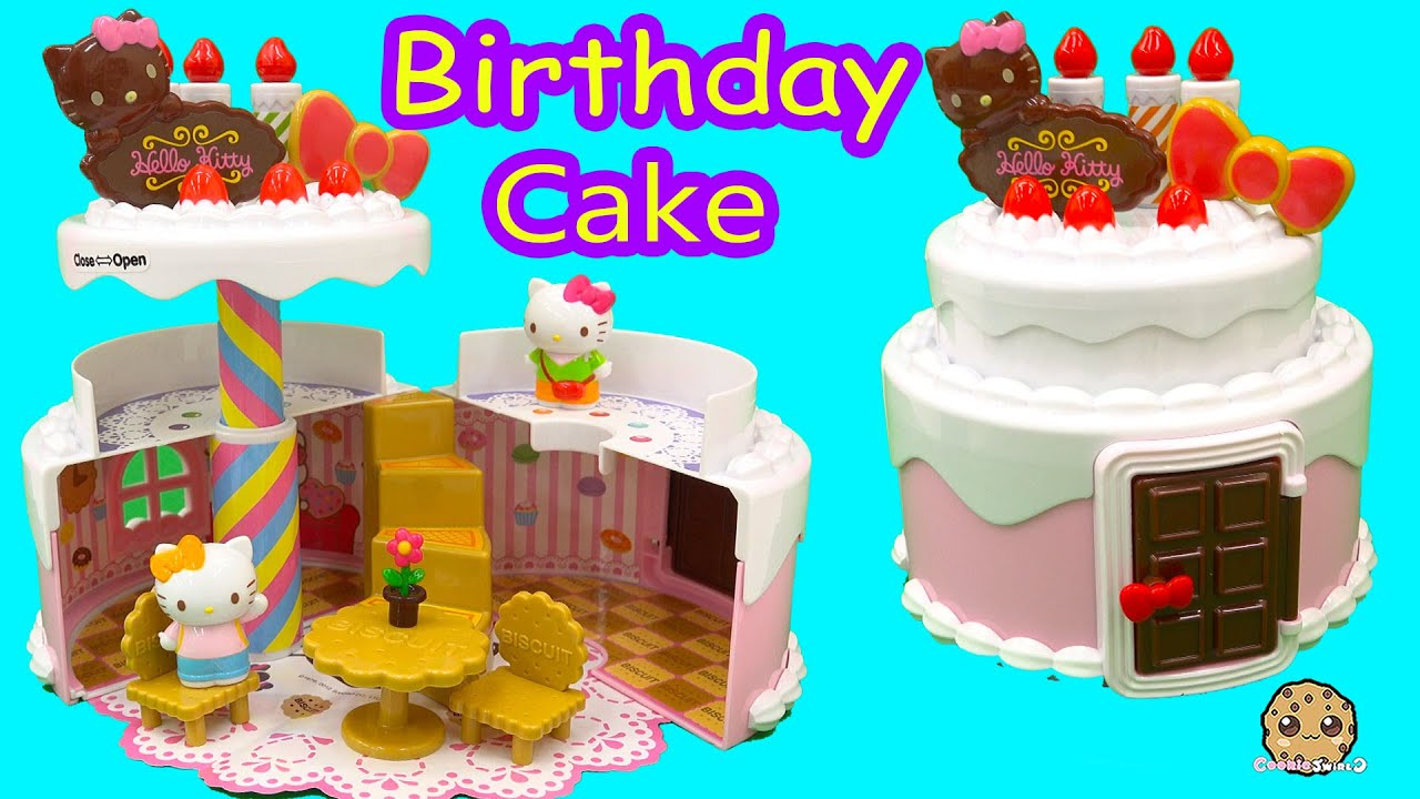 Hello Kitty BIRTHDAY CAKE HOUSE Playset Shopkins Disney Frozen