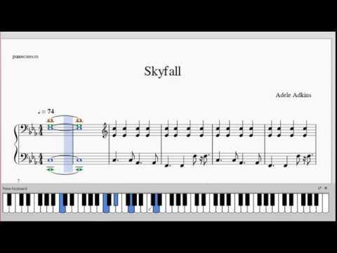 Adele  Skyfall  Piano Arrangement  free PDF