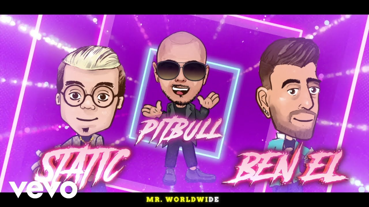 Static & Ben El, Pitbull, Chesca - Subelo (Further Up) (Animated Lyric Video)