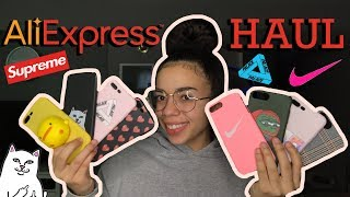HUGE LUXURY/DESIGNER ALIEXPRESS IPHONE CASE HAUL! | NIKE, PALACE & MORE! ($3 OR LESS) 2019