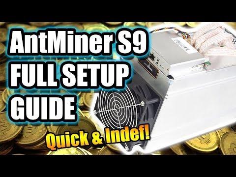 Unboxing Bitmain Antminer S9 + Setup With Slushpool