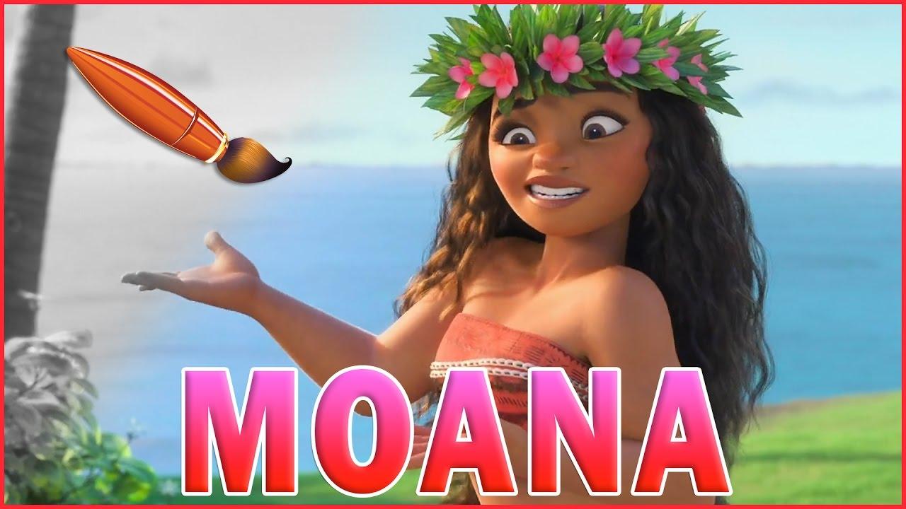 Moana Hula Dance From MOANA Movie Coloring Page