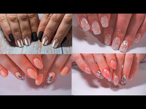 Френч персиковый на ногтях