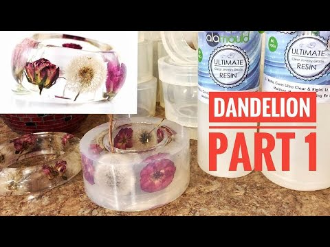 Dandelion & Rose Bracelet. Casting Flowers With Alamould Resin. Part 1