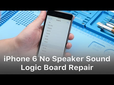 iphone 6 no sound fix iphone 6 no speaker sound caused by pseudo soldering 3646