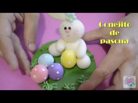 Conejito de Pascua en Pasta Flexible !!