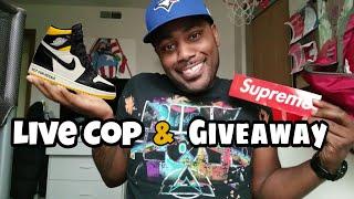 Jordan 1 Not for Resale Maize/Black Live Cop and Supreme GIVEAWAY #RoadTo1kSubscribers