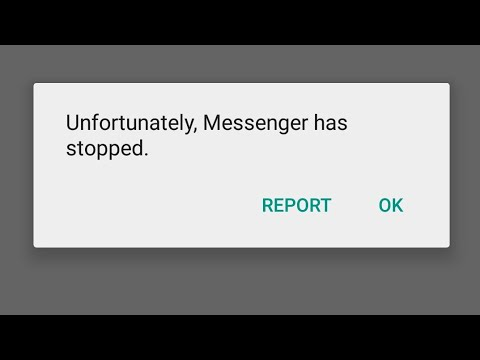 How to fix Unfortunately Messenger has stoped