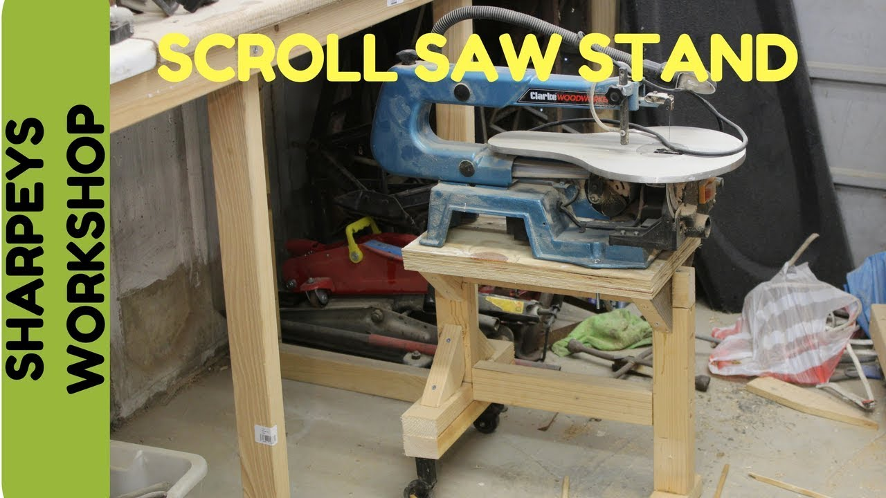 Handy little scroll saw table/stand - YouTube
