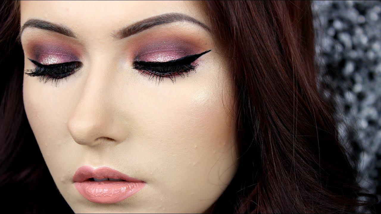 e1a1154d9fd Cranberry & Gold Glitter Spotlight/Halo Eye Makeup Tutorial by  shivonmakeupbiz