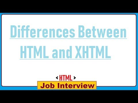 9. Differences Between HTML And XHTML ?