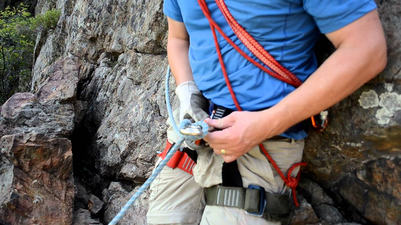 Rigging For Rappel With A Standard Figure Eight Youtube
