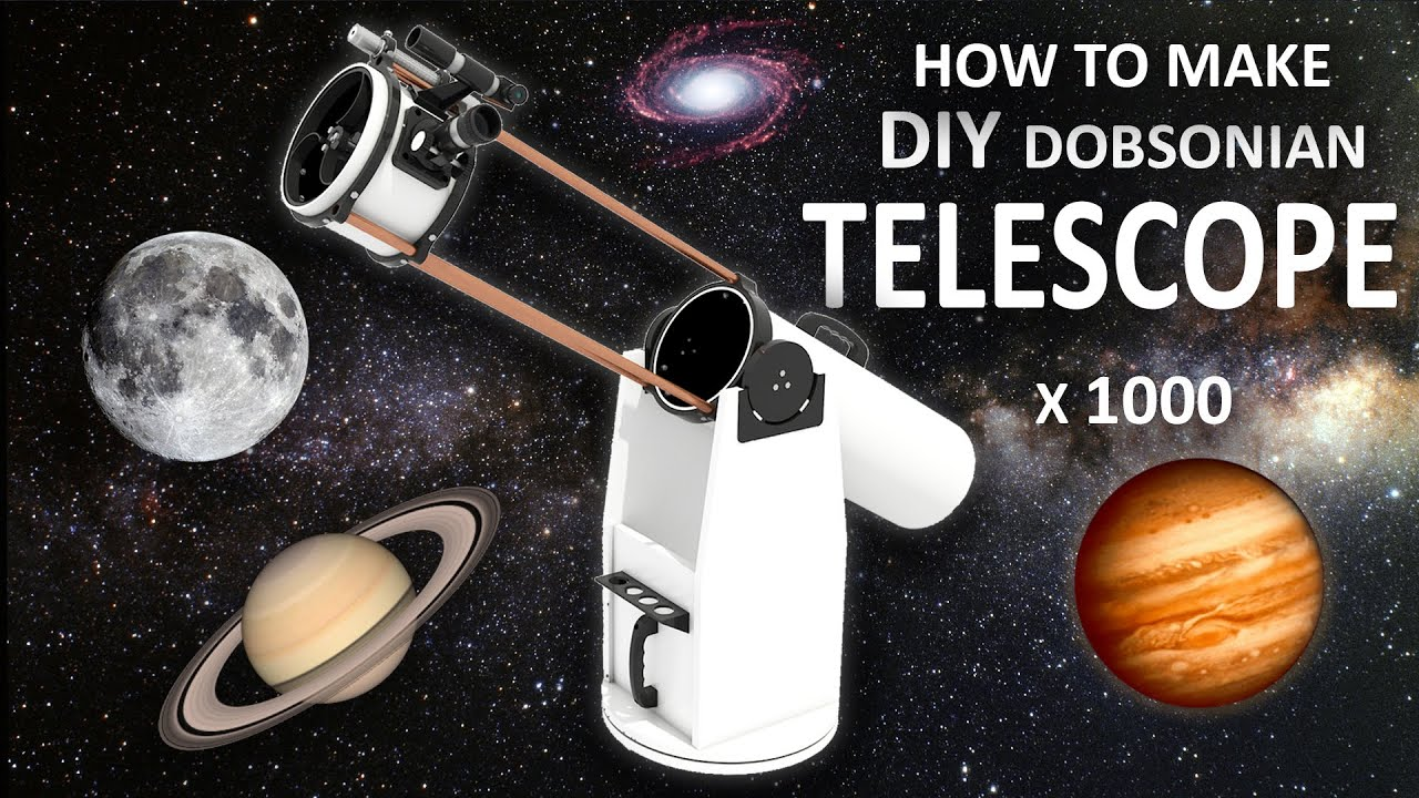 how to make diy telescope experiment at home youtube