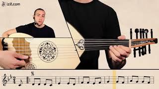 تعليم أغنية عقباوي يا خال على العود | izif.com