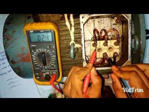 How to check induction motor by multimeter(hindi)