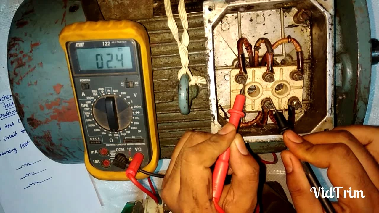 How to check induction motor by multimeter hindi youtube for How to check ac motor
