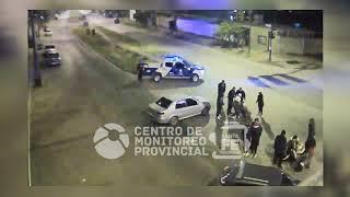 Choque auto moto en Avellaneda y Garibaldi